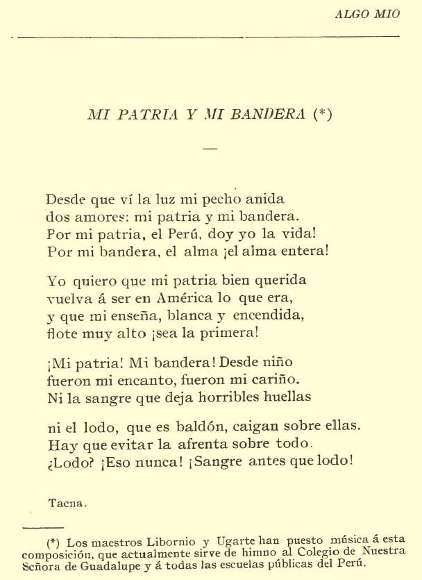 Poemas Por El DIA De La Patria