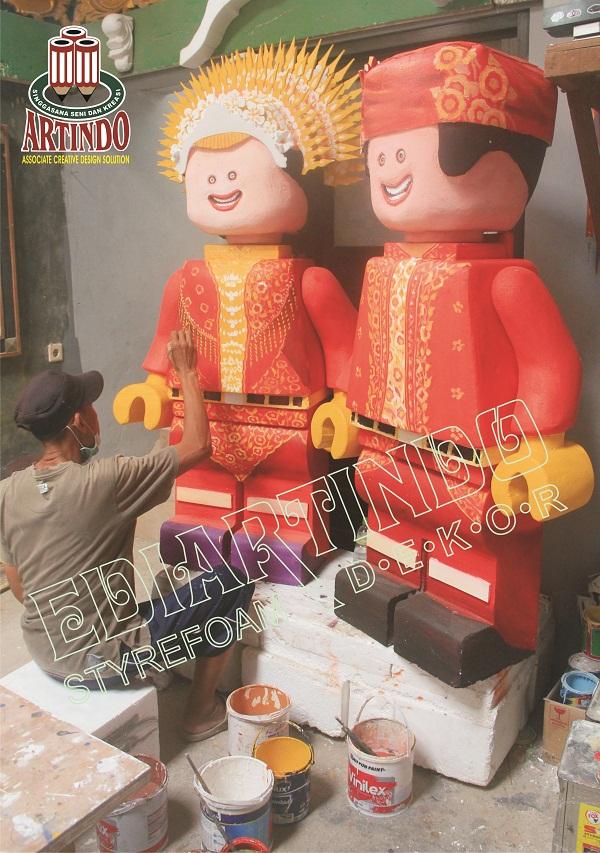 Proses Pembuatan Patung Karakter Adat Minang