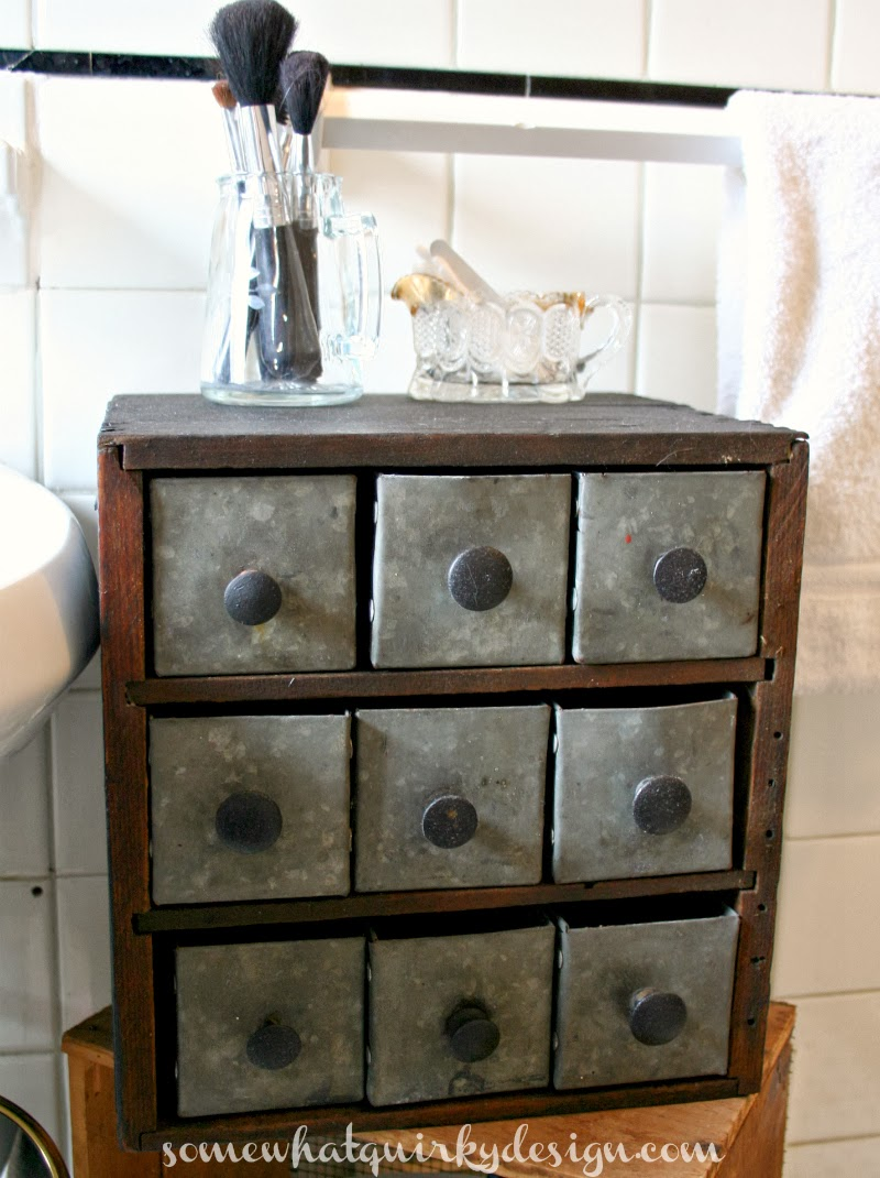 Somewhat Quirky Small Bathroom Cubby Big Difference