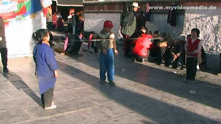 Children in the streets of Lhasa - Tibet - China