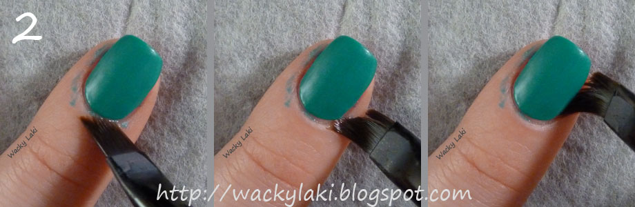 Starting At The Base Again Run Brush Along Other Side Of Nail I Turn My Nails To Face Me So That Is Never Blocking