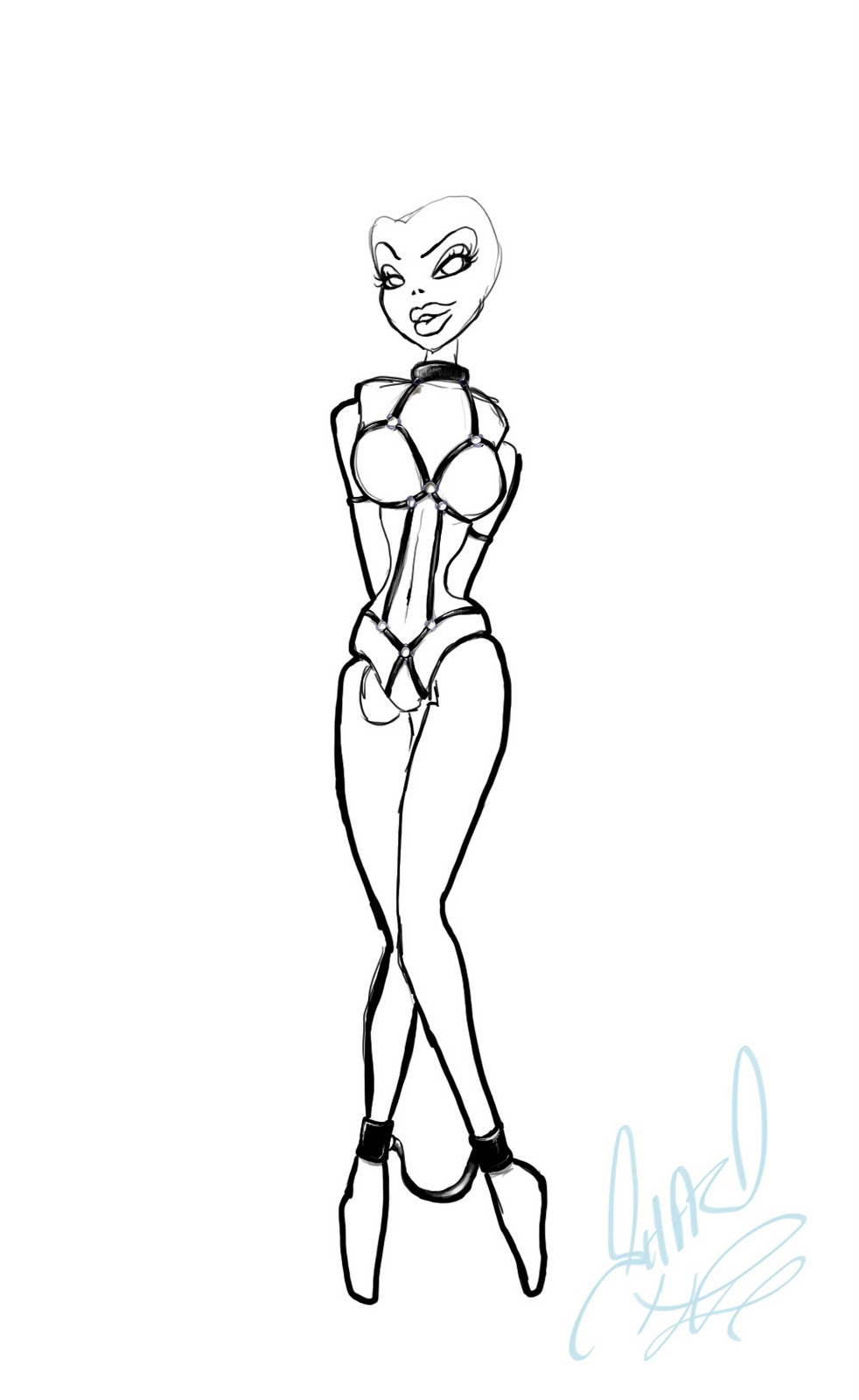 barbie outline drawingBarbie Outline