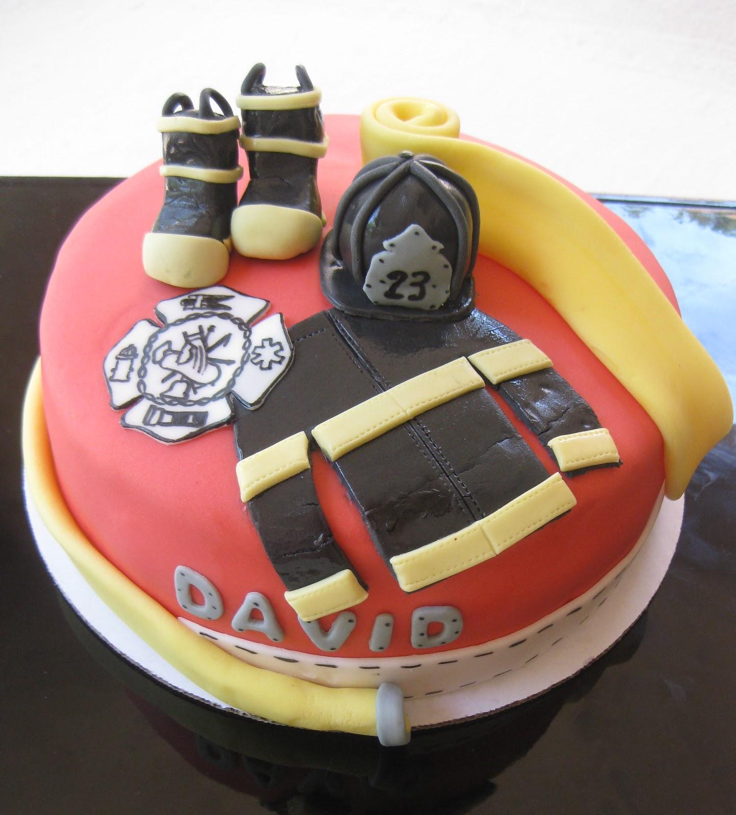 The Cake Baketress Firefighter Davids Birthday Cake