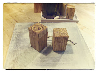 olive wood salt and pepper shakers