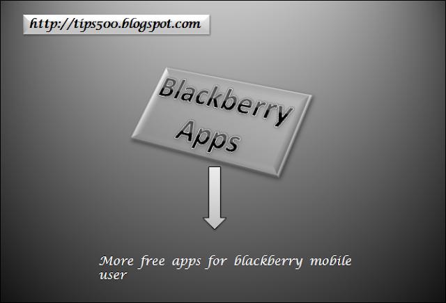 blackberry mobile  apps  free  apps