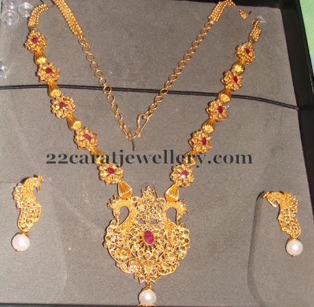 54 Grams Latest Uncut Diamond Necklace Jewellery Designs