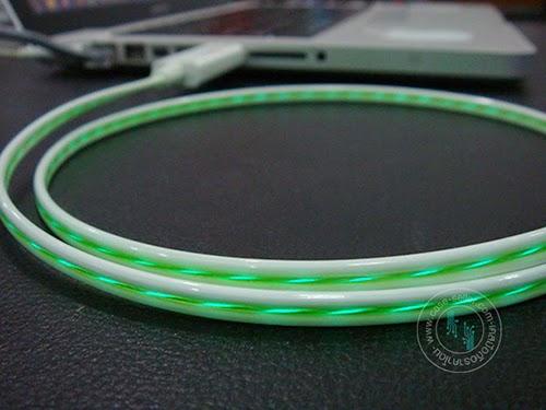 รหัสสินค้า 108042 สายขาว-ไฟสีเขียว