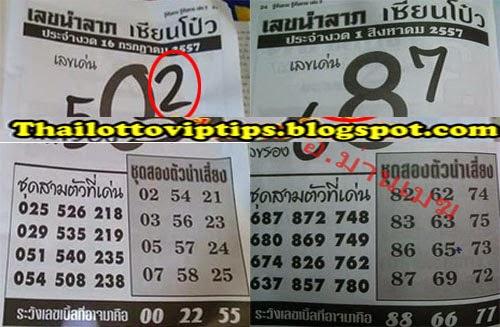 Thai lotto Hot Exclusive Paper 01-08-2014