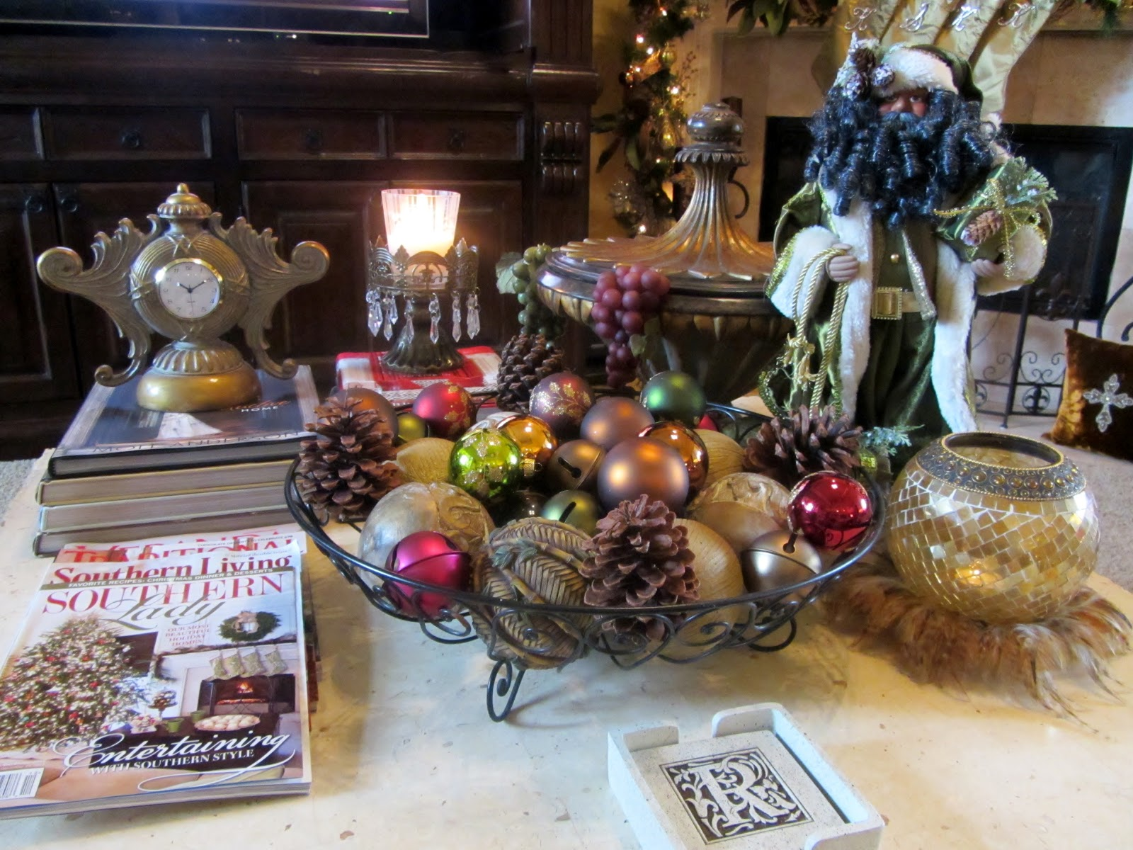 Embellishments By Slr Simple Holiday Coffee Table Decor