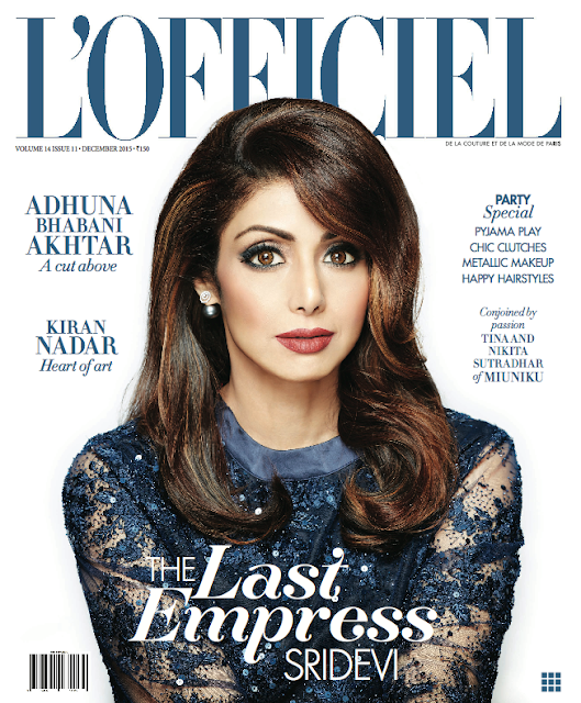 Sri Devi on L'officiel India December 2015