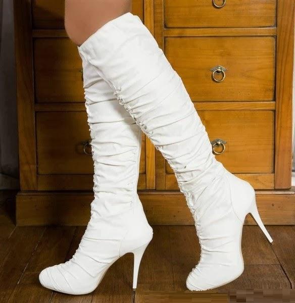 2014 Yeni Moda Topuklu Bayan Çizmeler