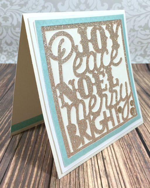 Cricut Artistry Christmas Word Art card