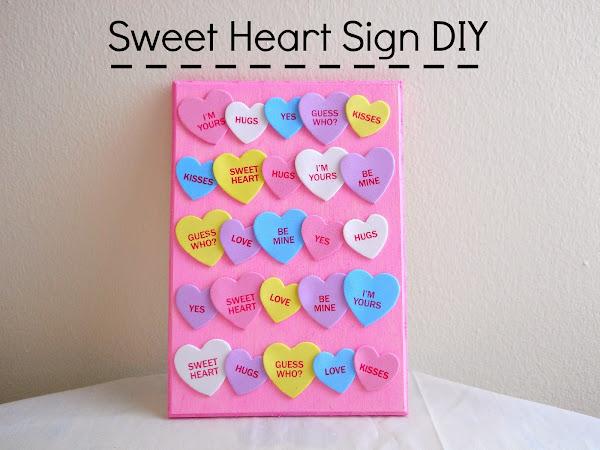 Sweet Heart Sign DIY