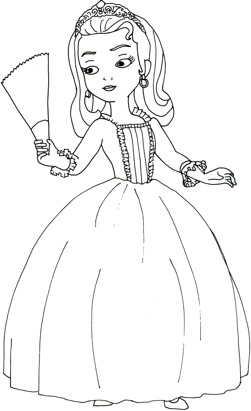 Amber And Sofia Coloring Pages