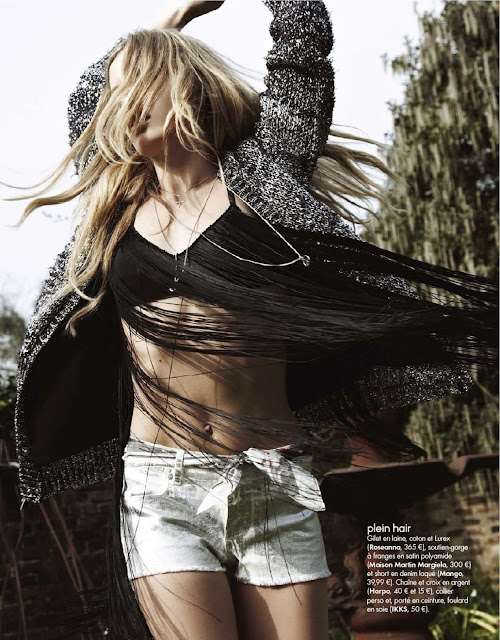 Georgia May Jagger, Elle France, editorial, rock chic