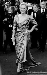 Meryl Streep over red carpet at 2012 Academy Awards - Oscar arrival