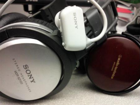 headphones: sony mdr-xd100, sony nwz-w273, audiotechnica