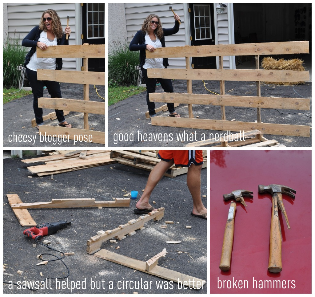pallet possibilities how to build a wooden pallet wall. Black Bedroom Furniture Sets. Home Design Ideas