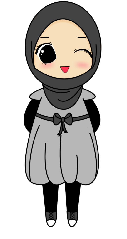 Grey Muslimah Cartoon | mauL's