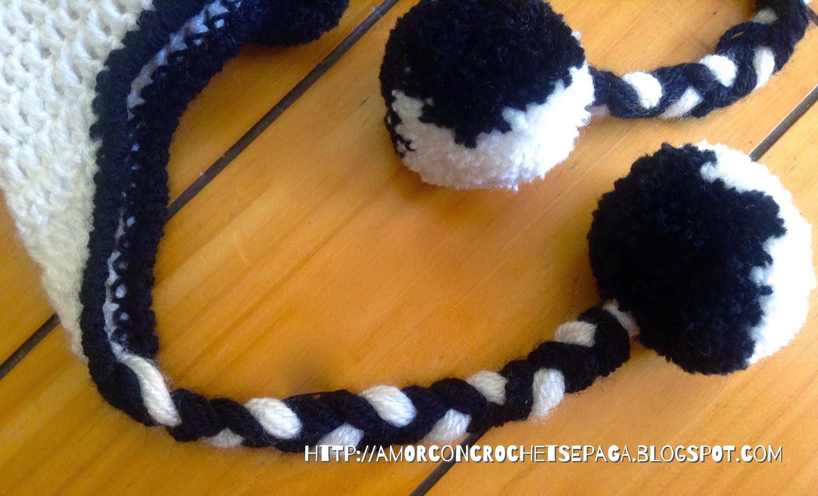 Lujo Panda Patrón De Crochet Sombrero Regalo - Ideas de Patrones de ...