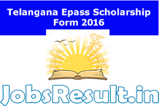 Telangana Epass Scholarship Form 2016