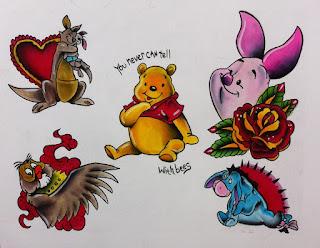 winnie the pooh, winnie the pooh tattoo, winnie tattoo, tattoo, cincinnati tattoo