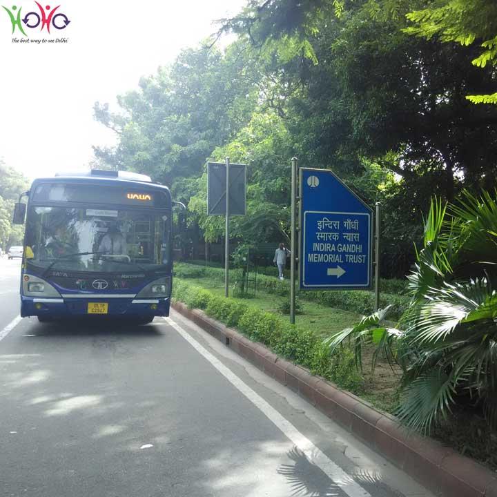 HOHO-bus-at-Indira-Gandhi-Museum