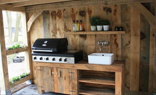 Altana Z Letnią Kuchnią Arbor With Outdoor Kitchen