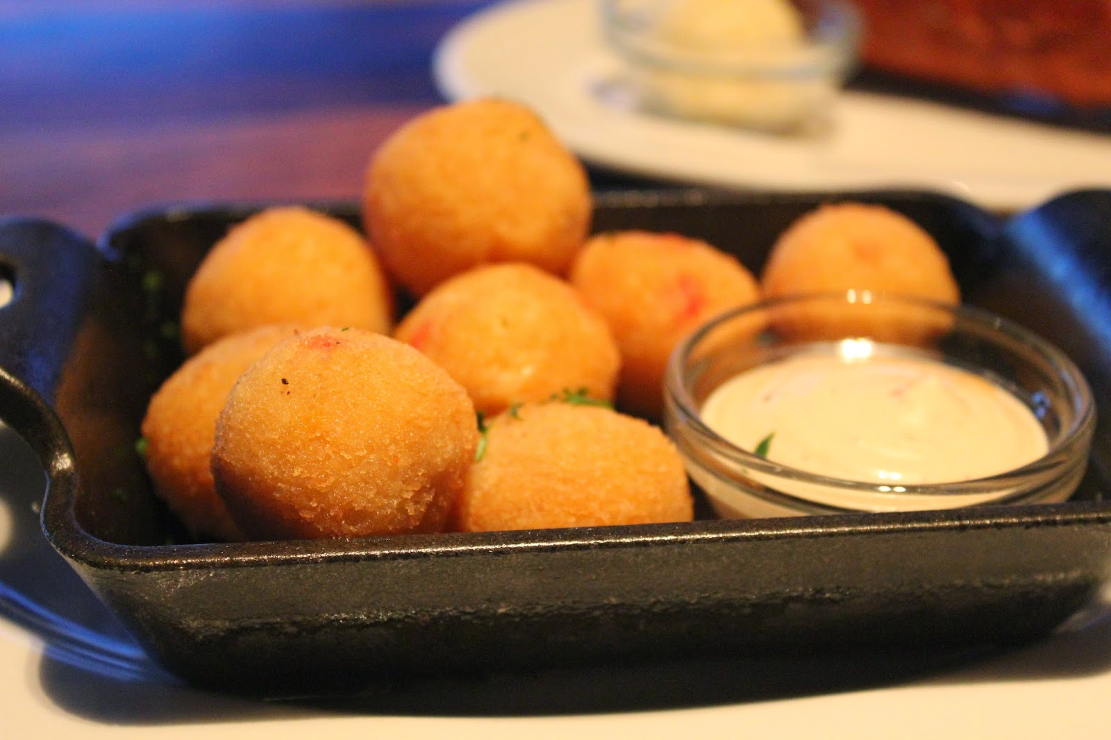Pimento cheese fritters at Del Frisco's Grille