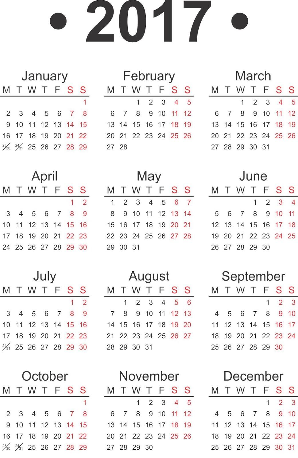 Самодельные календари на 2017 год