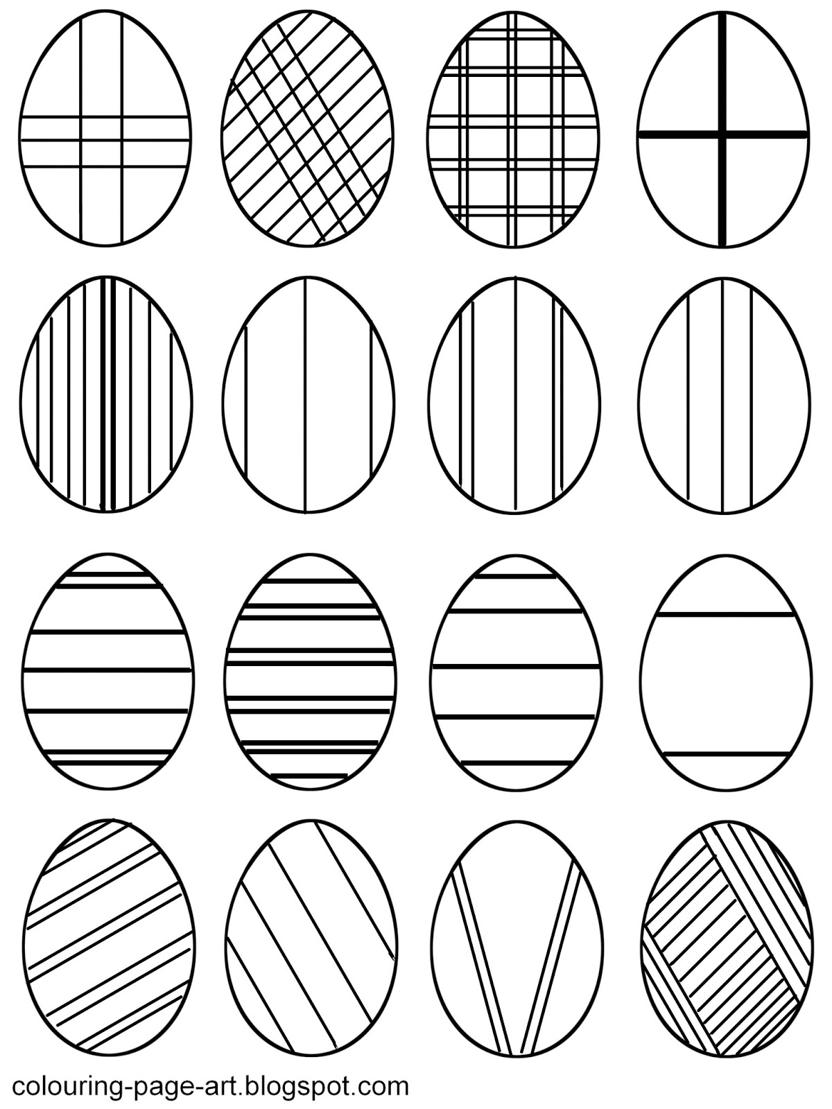 Easter Egg Designs Coloring Pages #10