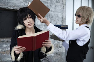 Hibiki and Saya cosplay as Izaya Orihara and Shizuo Heiwajima from Durarara