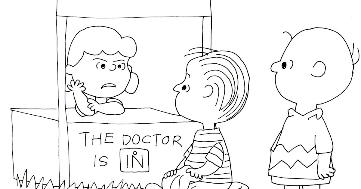 Free Charlie Brown Snoopy and Peanuts Coloring Pages: Lucy Linus ...