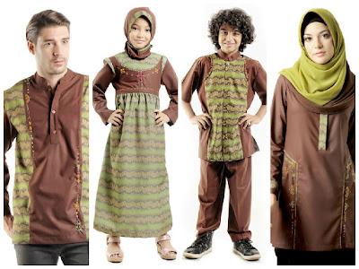 Grosir Baju Lebaran Keluarga Warna Cokelat