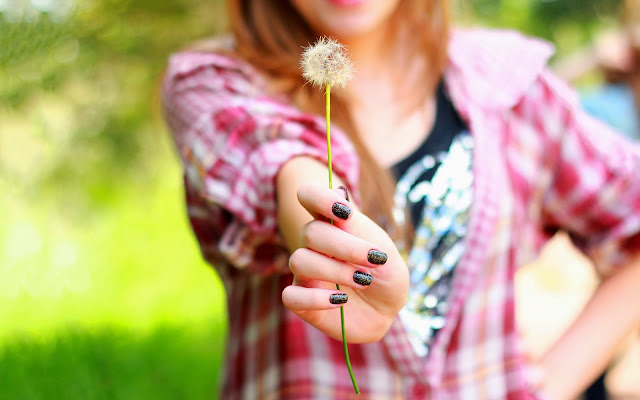 Girl With Dandelion