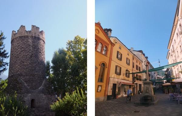 Aoste Aosta Italie tour neuve croix de ville rue