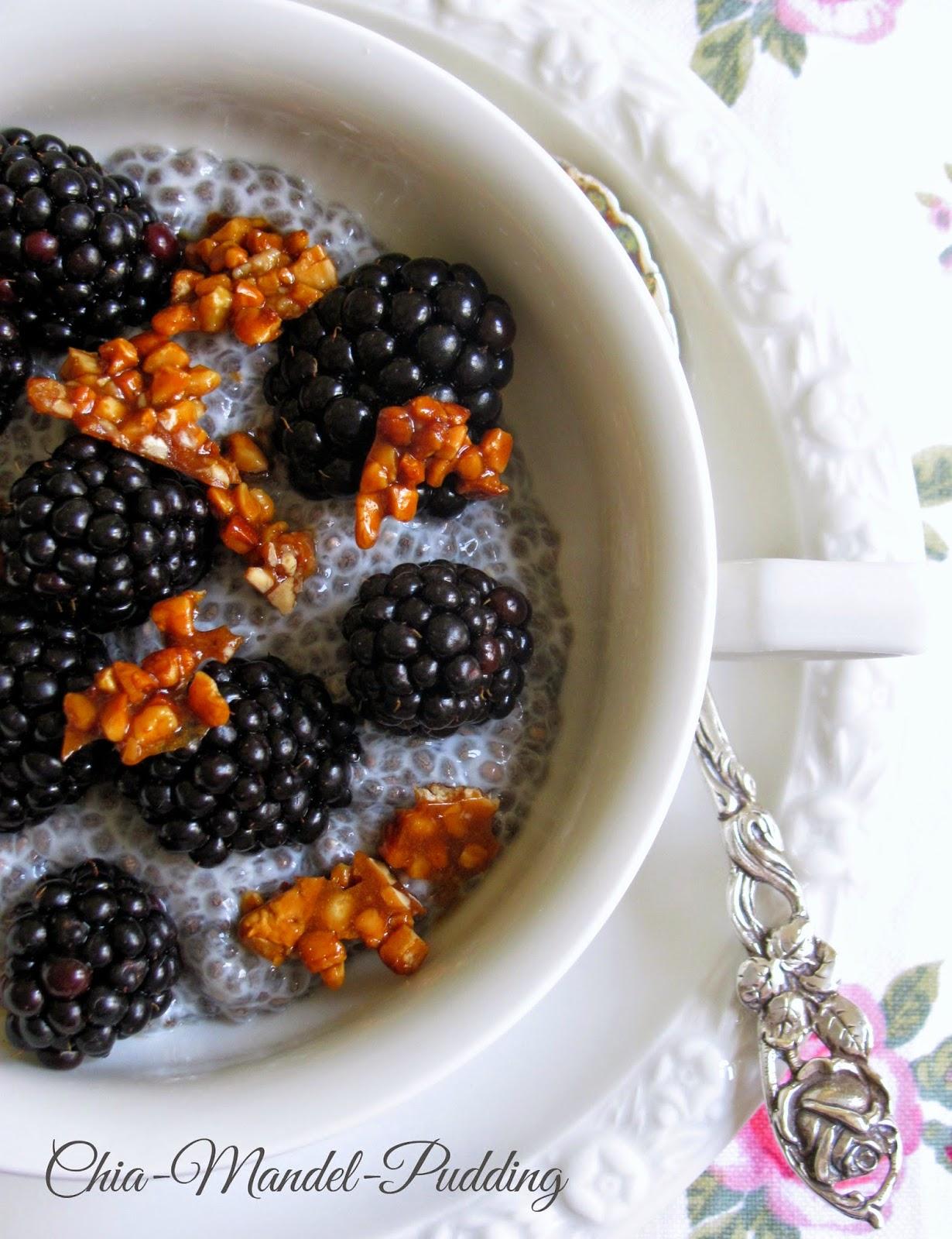tra dolce ed amaro achtung zu gesund chia mandel pudding mit brombeeren. Black Bedroom Furniture Sets. Home Design Ideas