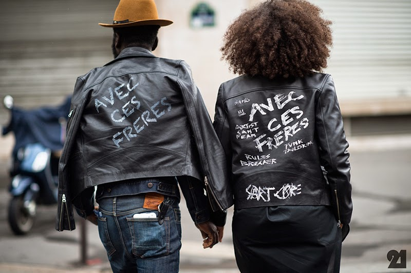 Leather jackets with messages