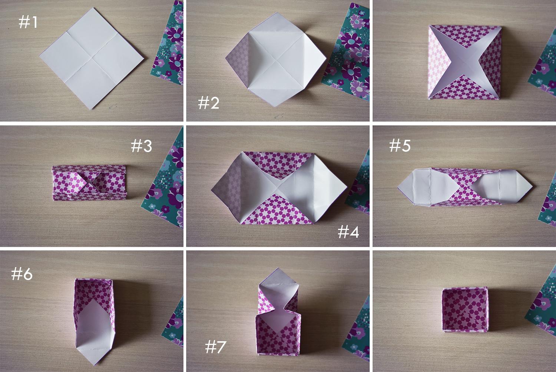 tuto origami boite facile