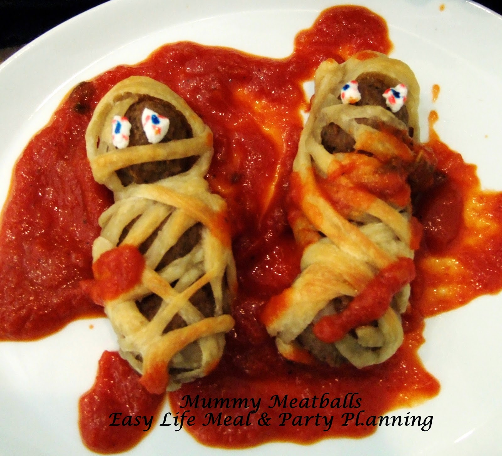 Mummy Meatballs by Easy Life Meal and Party Planning