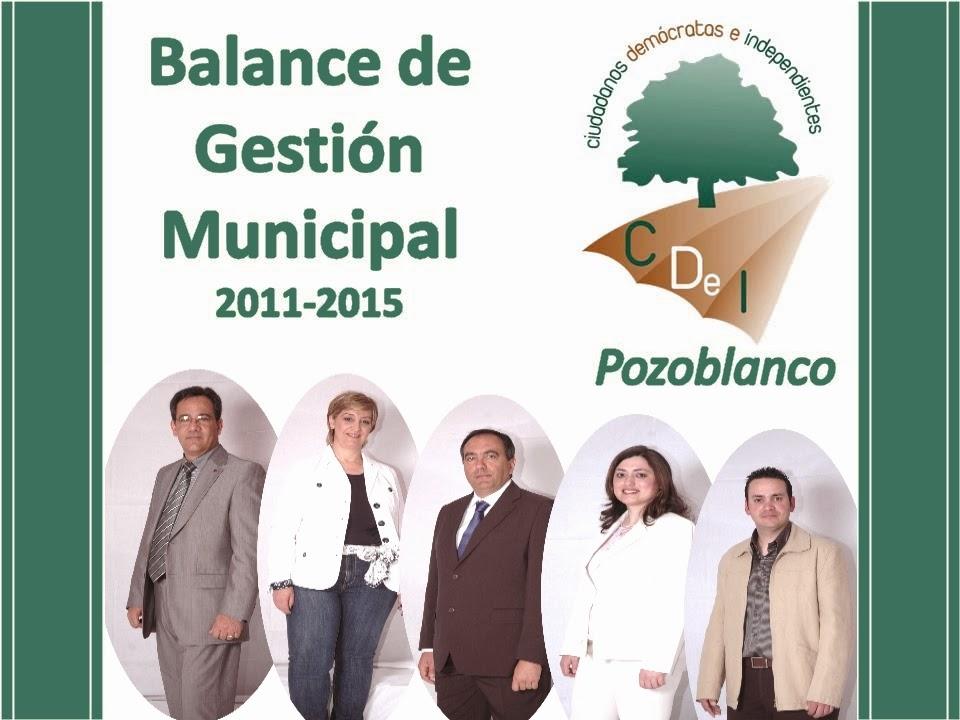 Balance de Gestión Municipal 2011-2015