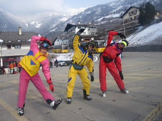 Fancy dress skiing in Verbier 2010