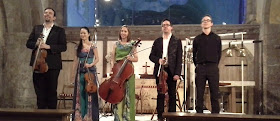 Quatuor Tana & Nick Brown at Ewenny Priory at the 2014 Vale of Glamorgan Festival