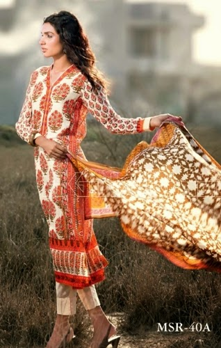 Gul Ahmed Printed Cambric Mid summer Collection 2014