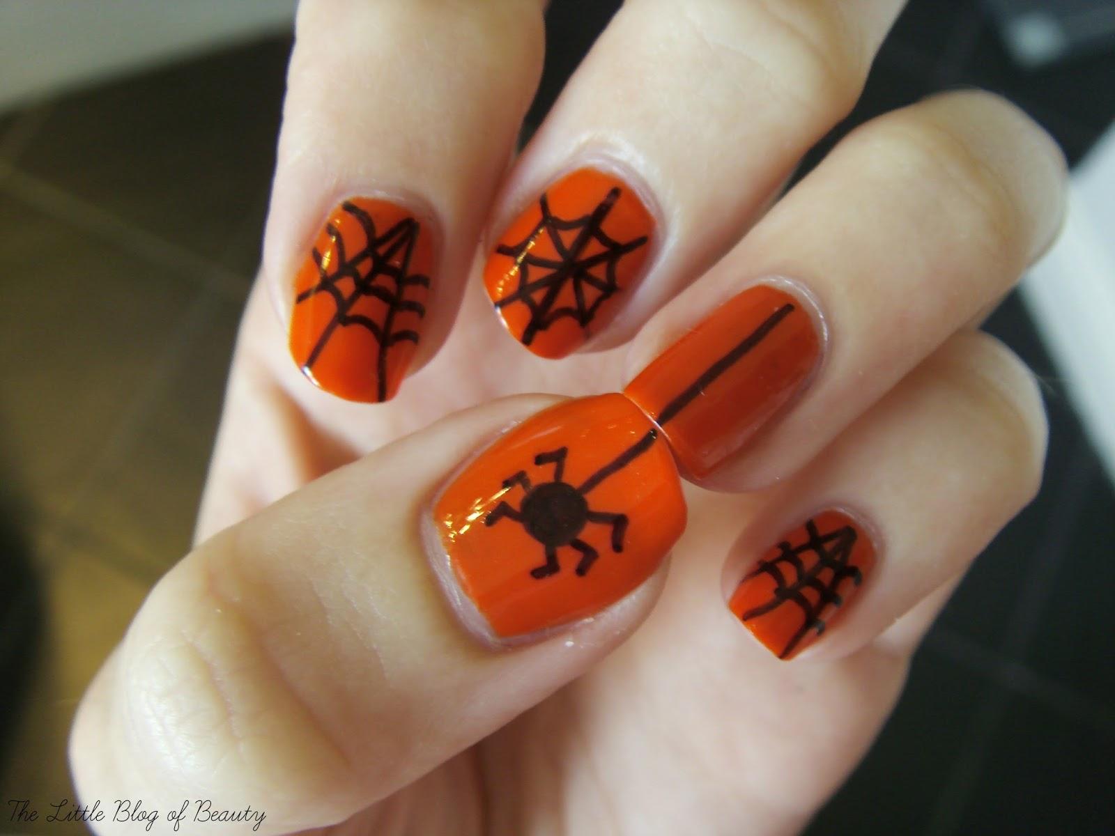 Halloween nail art - Incy wincy