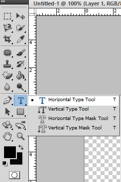 Adobe Photoshop Type Tools