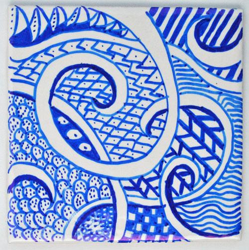zen doodle coaster design