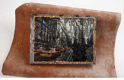 Napkin Decoupage - City on a Canvas