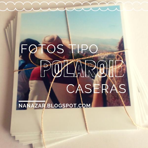 Fotos tipo Polaroid en casa