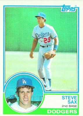 Baseball Cards Los Angeles Dodgers 1983 Topps #245 Steve Sax